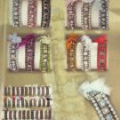 Assorted Fashion Bracelets with Acrylic Stones & Ribbon Accent Free Display - 1 Package of 36
