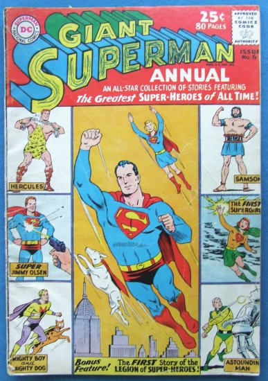 SUPERMAN GIANT ANNUAL NO 6  62/63 ISSUE DC COMICS