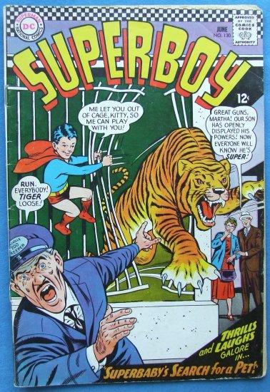 SUPERBOY NO 130 JUNE 1966 DC COMICS