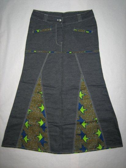 Jeans skirt long (st)
