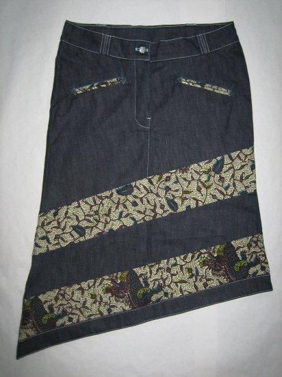 Jeans skirt shorter (br)