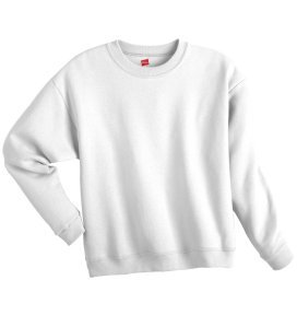 Girl's Hanes Stayclean Fleece Crew