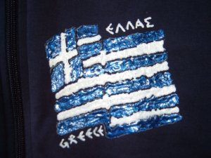 Greek flag : skewed (large-middle)