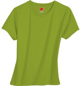Women's Hanes Stretch Perfect Tee (New Leaf-medium)