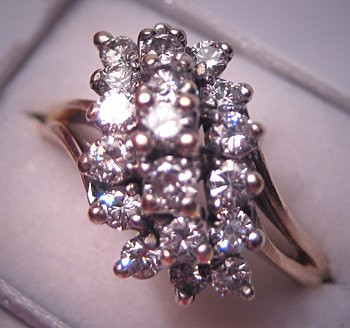 Vintage Diamond Cocktail Ring Estate Fine Jewlery 1.40ctw 14K