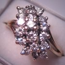 Vintage Diamond Cocktail Ring Estate Fine Jewlery 1.40ctw 14K