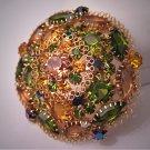 Juliana Rhinestone Pin Large Peridot Topaz AB Brooch Vintage 1960