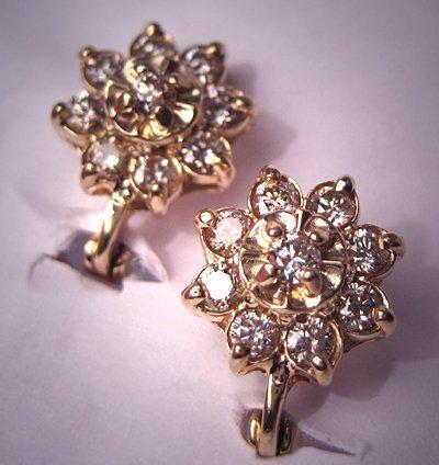 Estate Diamond Earrings Vintage Fine Jewelry 14K Gold