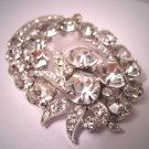Vintage Eisenberg Rhinestone Paste Brooch Signed Pin Art Deco