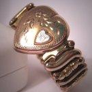 Antique Sweetheart Bracelet Vintage Gold