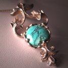 Vintage Art Nouveau Turquoise Necklace Pendant