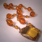 Antique Czech Topaz Necklace Vintage Art Nouveau - Deco