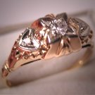 Antique Diamond Wedding Ring Vintage