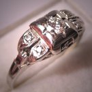 Antique Diamond Wedding Ring Art Deco