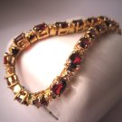 Vintage Garnet Diamond Bracelet Estate