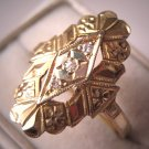 Antique Diamond Ring Vintage Art Deco