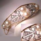 Antique Pearl Diamond Platinum Bracelet Vintage
