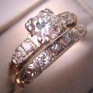 Antique Diamond Wedding Set Vintage Art Deco
