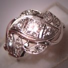 Antique Diamond Wedding Ring Vintage Art Deco