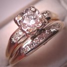 Antique Diamond Wedding Ring Set Vintage