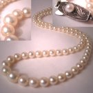 Antique Akoya Pearl Necklace Strand Vintage Deco Signed