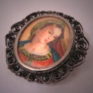 Antique Italian Renaissance Portrait Pin Pendant Filigree