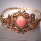 Antique Victorian Gold Coral Bracelet Vintage Estate