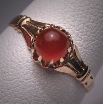 Antique Carnelian Ring Victorian Gold Estate Fine Jewel