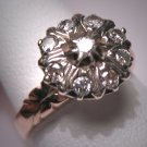 Antique Diamond Wedding Ring Vintage Victorian Georgian