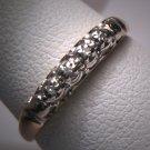 Antique Diamond Wedding Ring Band Vintage Art Deco Gold