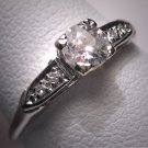 Antique Diamond Wedding Ring Platinum Vintage Art Deco