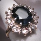 Antique Royal Sapphire Diamond Wedding Ring Vintage