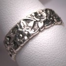 Antique Wedding Band Vintage Art Nouveau Eternity Ring