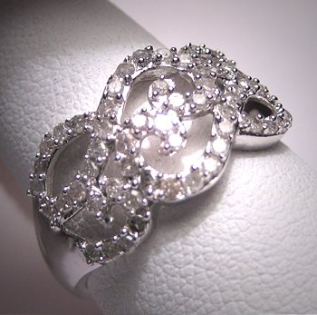Vintage Diamond Wedding Ring Band White Gold Engagement