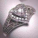 Vintage Diamond Wedding Ring Band Retro Art Deco W.Gold