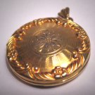 Antique Gold Locket Pendant Victorian Art Deco Vintage