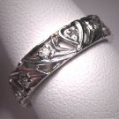 Antique Platinum Diamond Wedding Band Ring Vintage Deco