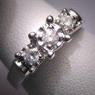 Estate Diamond Wedding Ring Band Vintage Art Deco WGold