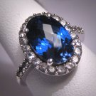 Vintage Sapphire Wedding Ring Retro Art Deco Style Ster