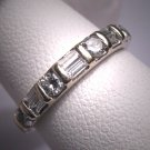 Antique Diamond Wedding Band Ring Vintage Art Deco 50s