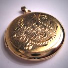 Antique Gold Locket Vintage Art Deco Pendant Floral