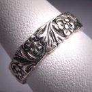 Antique Wedding Band Vintage Art Nouveau Eternity Ring