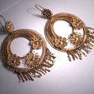 Antique Gold Earrings Oaxaca Mexican Vintage Art Deco
