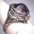 Antique Amethyst Ring Wedding Filigree Vintage Art Deco Victorian 1920