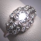 Antique Platinum Diamond Wedding Ring Art Deco 1.08ctw Engagement 1920