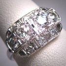 Antique Platinum Diamond Wedding Ring Art Deco 1.10ctw Band Retro 1930