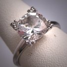 Antique White Sapphire Wedding Ring Vintage Art Deco Engagement 1930