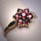Vintage Garnet Ring Antique Victorian Style Estate Deco Digital Price: 228.00
