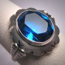Antique Sapphire Ring Victorian Wedding Estate Vintage 1930 Art Deco