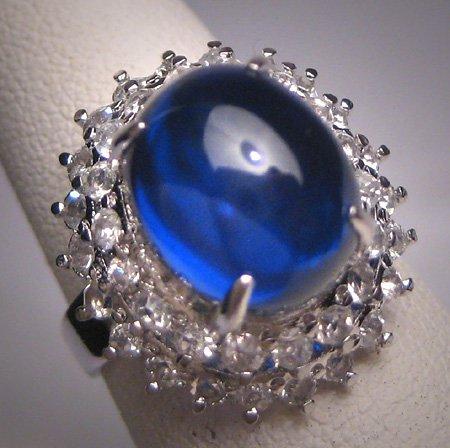 SOLD Vintage Blue Sapphire Ring Retro Art Deco Wedding Estate